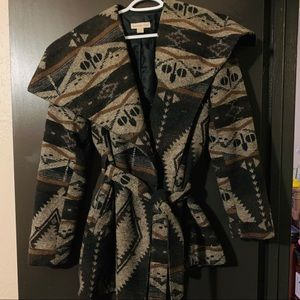 Coldwater Creek Aztec Print Coat